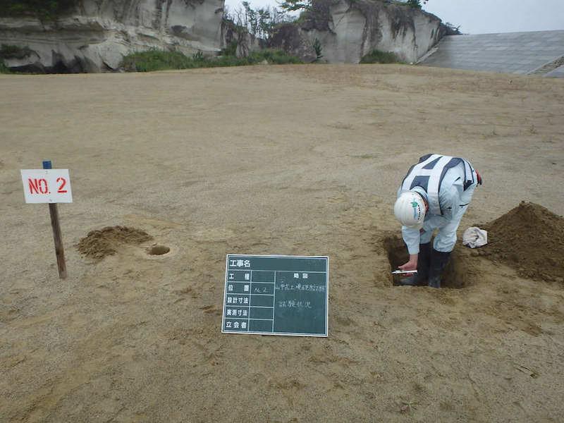 山中式土壌硬度試験